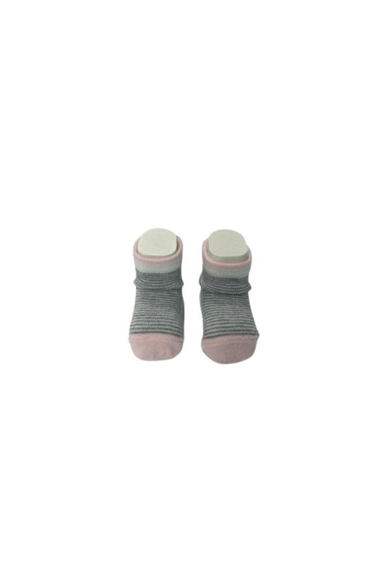 Albimini Minidamla Desenli Ayaklı Kız Çorabı 44444