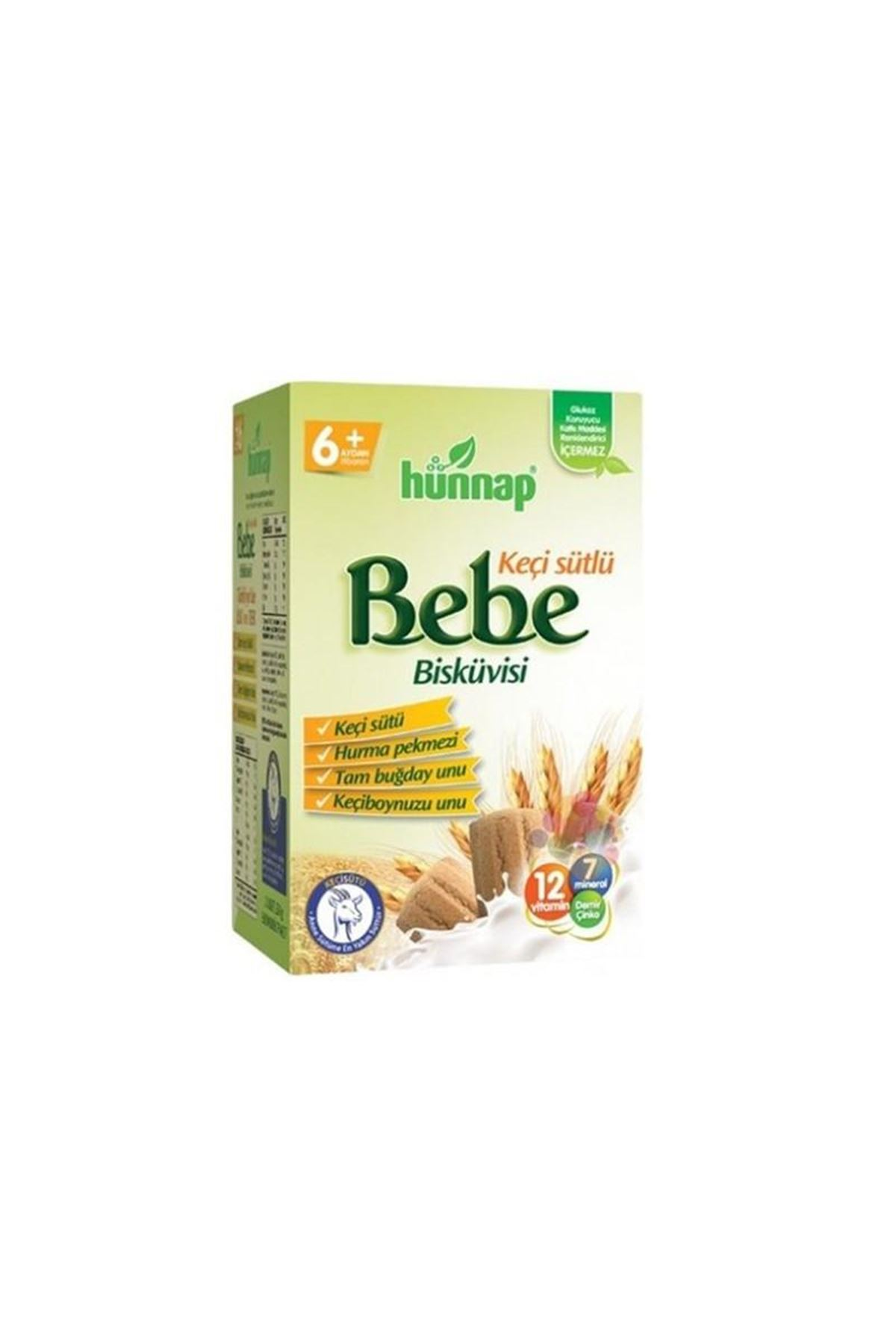 Hünnap Keçisütlü Vitaminli Bebe Bisküvisi 400 Gr