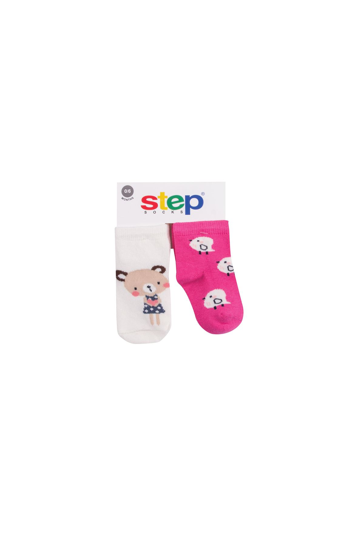 Step 2li Cute Bear Soket Çorap 10176 Karışık Renkli