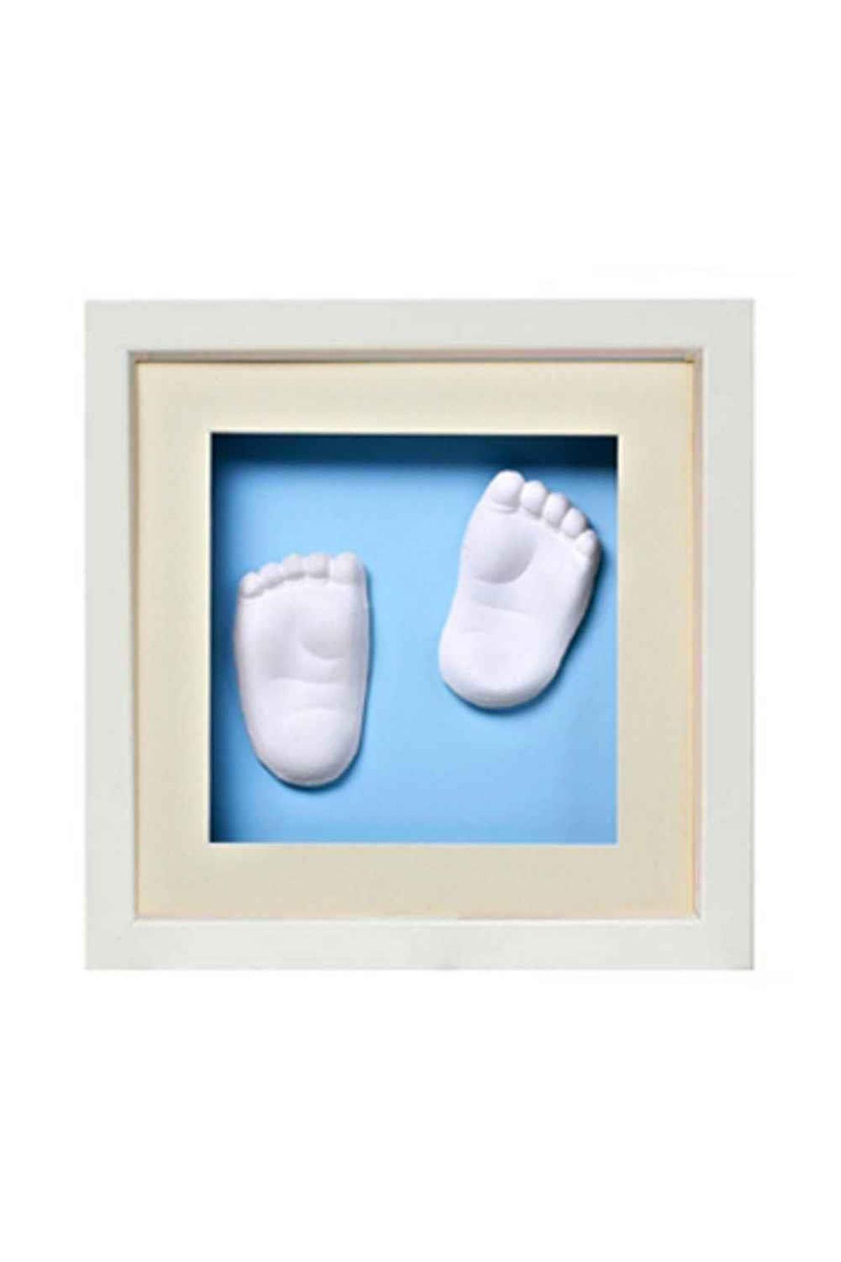 Baby Memory Prints El ve Ayak İzi 3D Çerçeve Beyaz