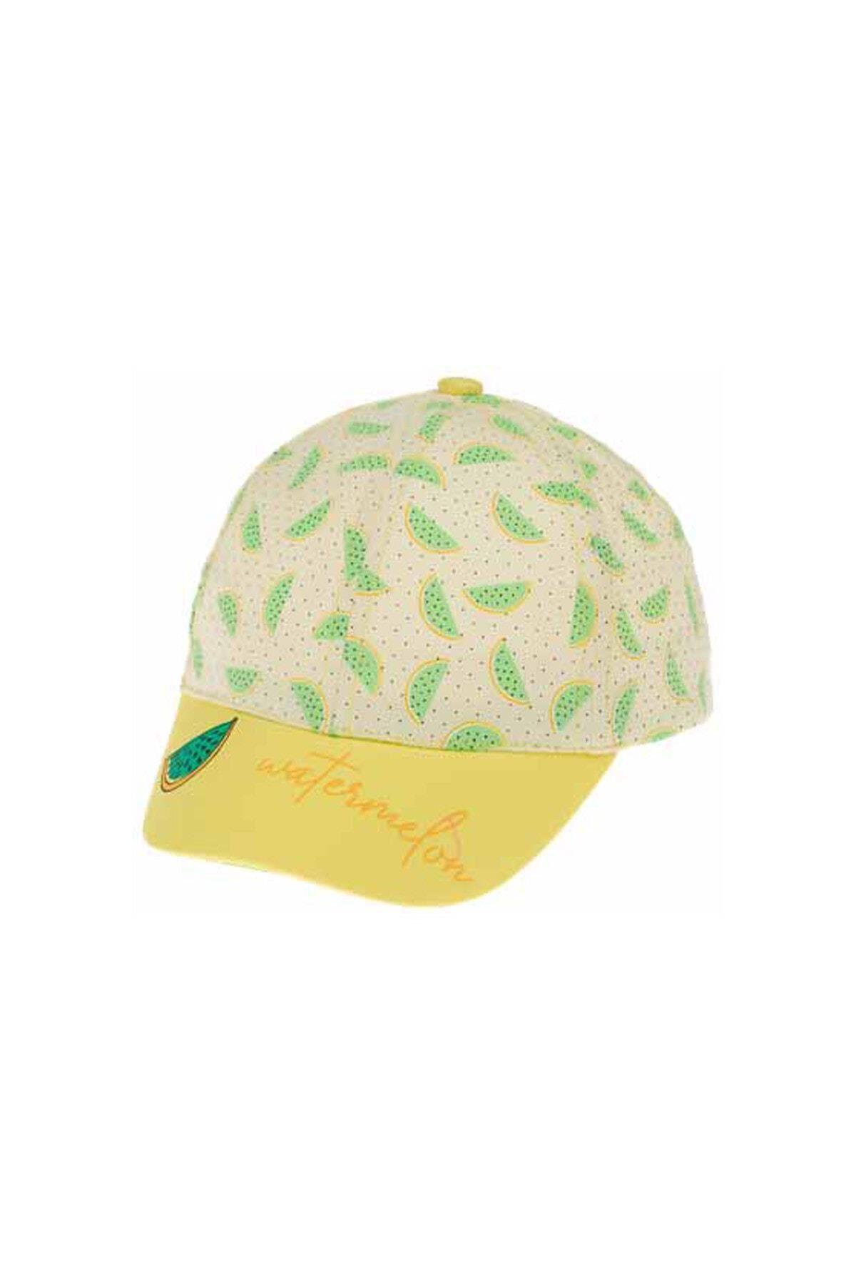 Kitti Bebe Kız Şapka (1-4 Yaş) 110008 Sarı