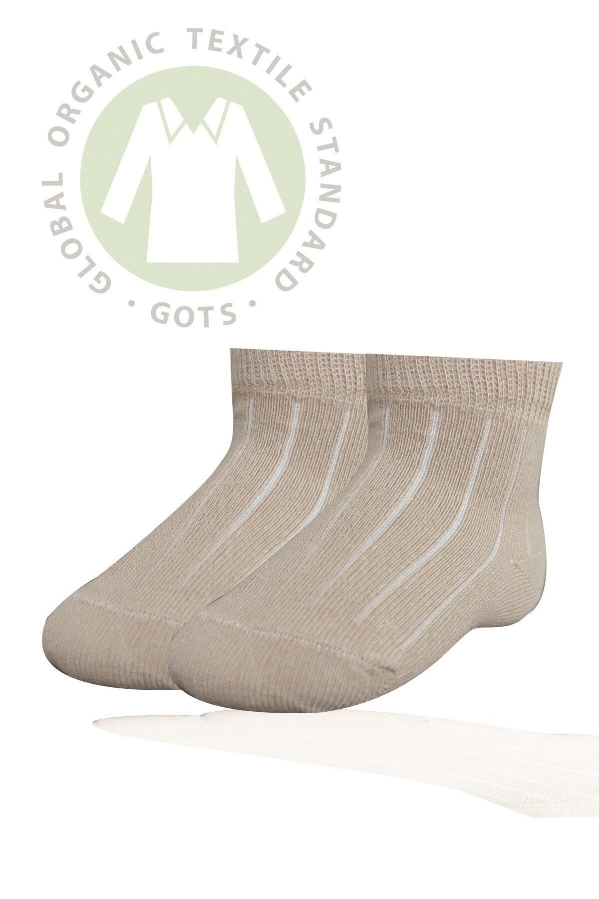Bibaby Biorganik Simple Bebe Çorap 68368 Bej