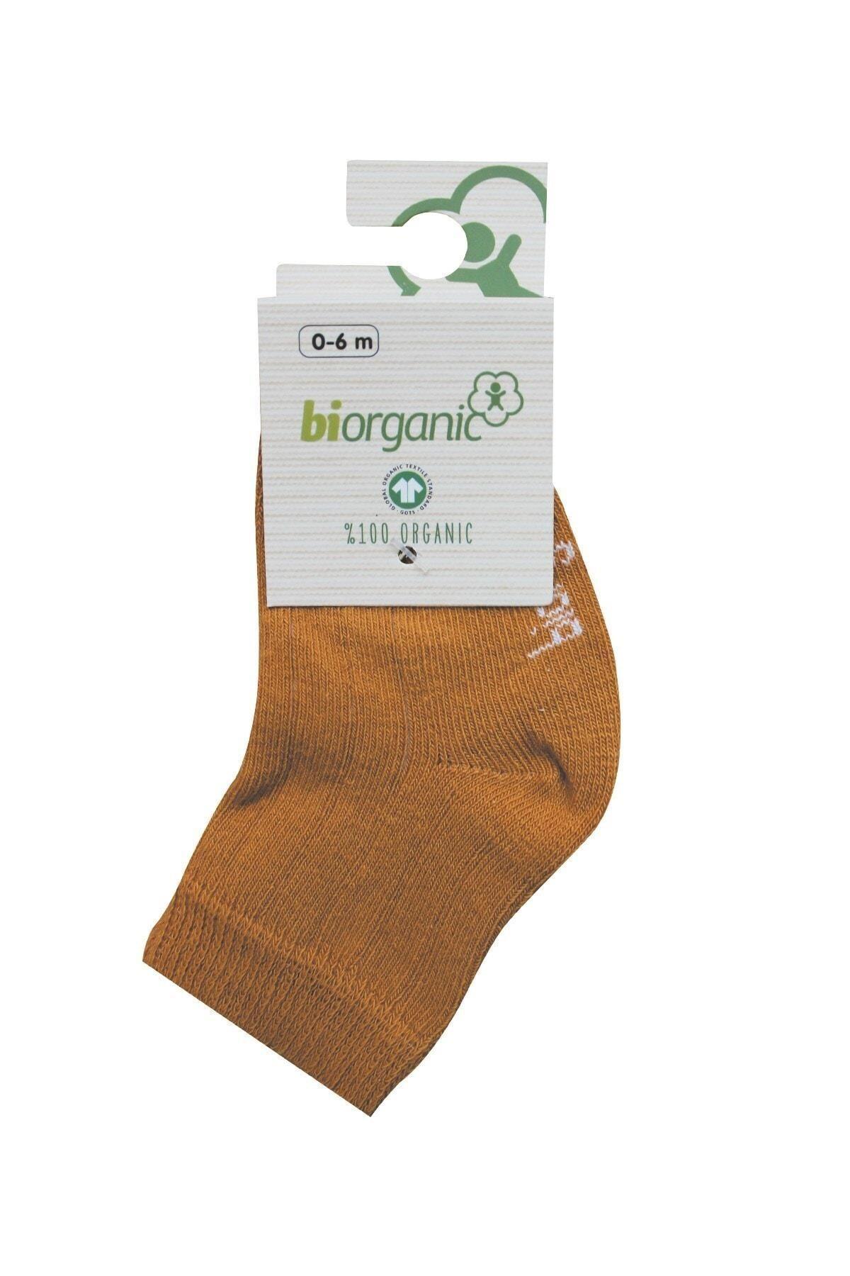 Bibaby Biorganik Simple Bebe Çorap 68368 Hardal