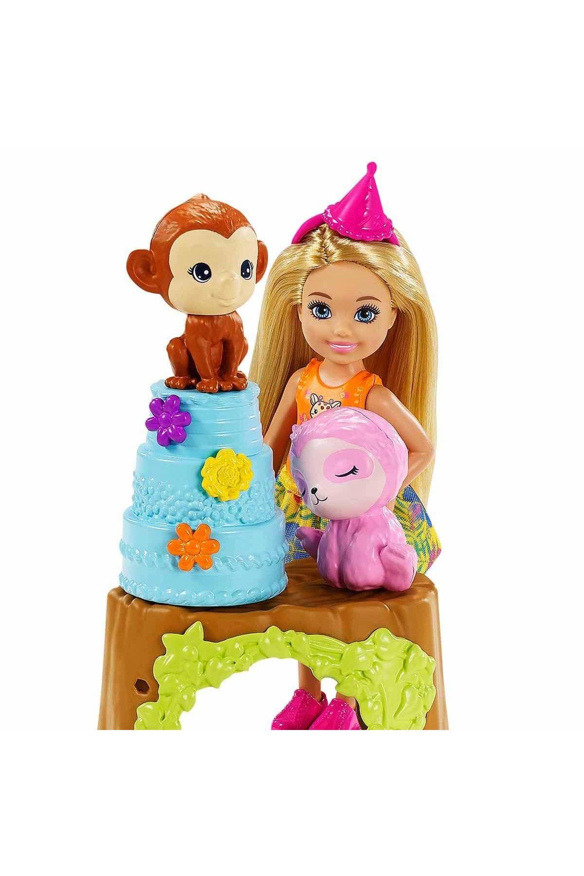 Barbie ve Chelsea Kayıp Doğum Günü Parti Eğlencesi Oyun Seti GTM84