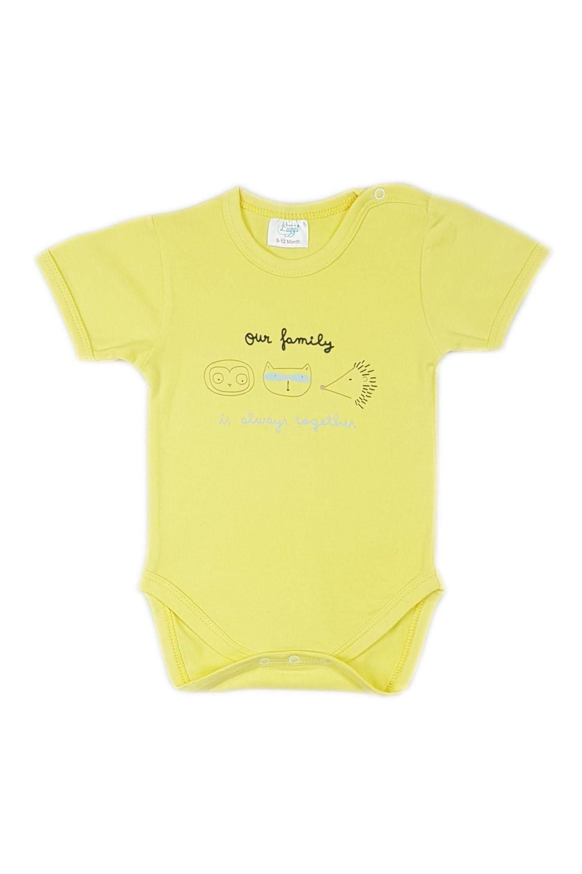 Luggi Baby Funny Kısa Kol Bebek Body LG-5402 Karışık Renkli