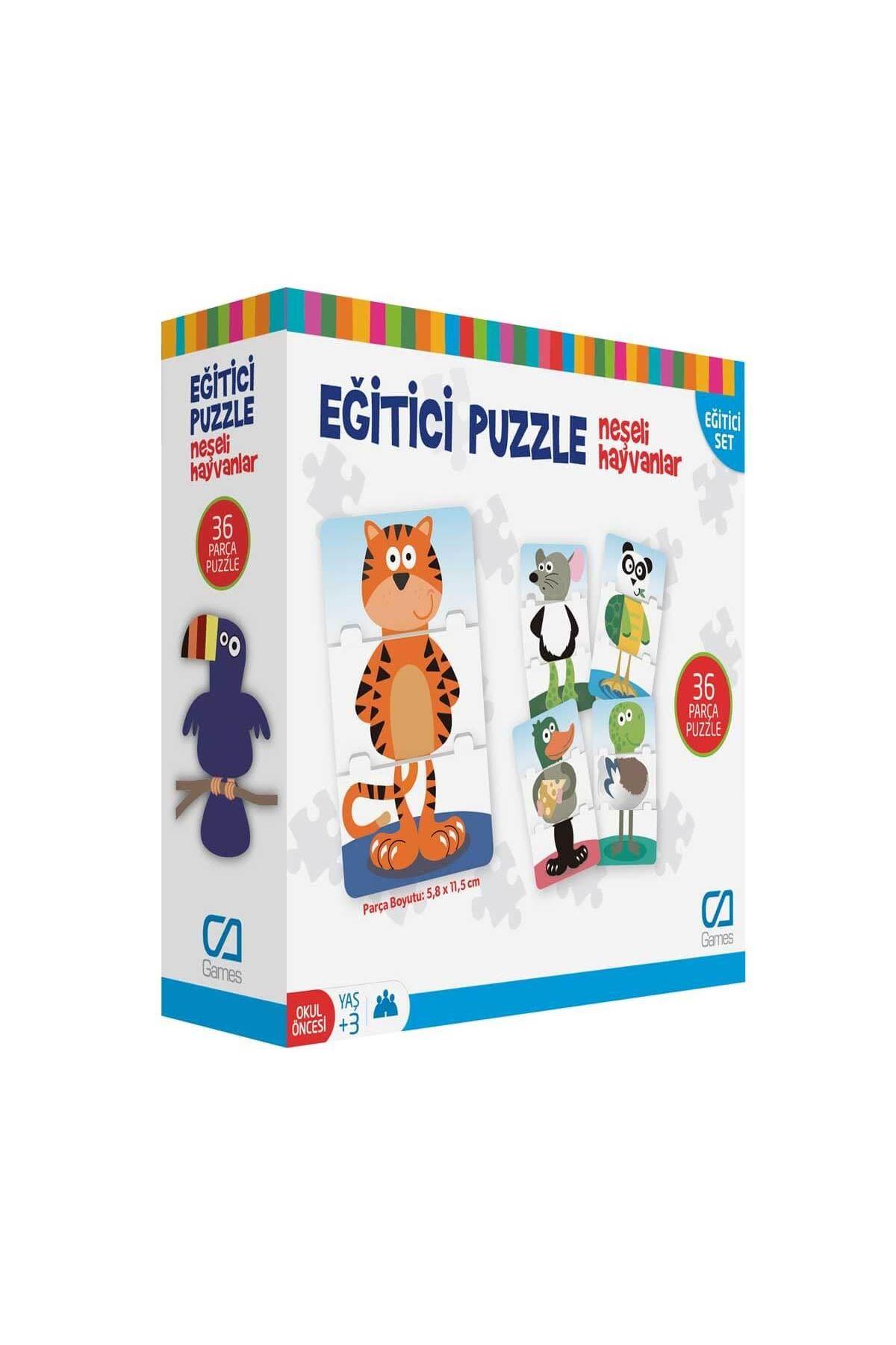 Games Eğitici Puzzle Neşeli Hayvanlar 36 Parça