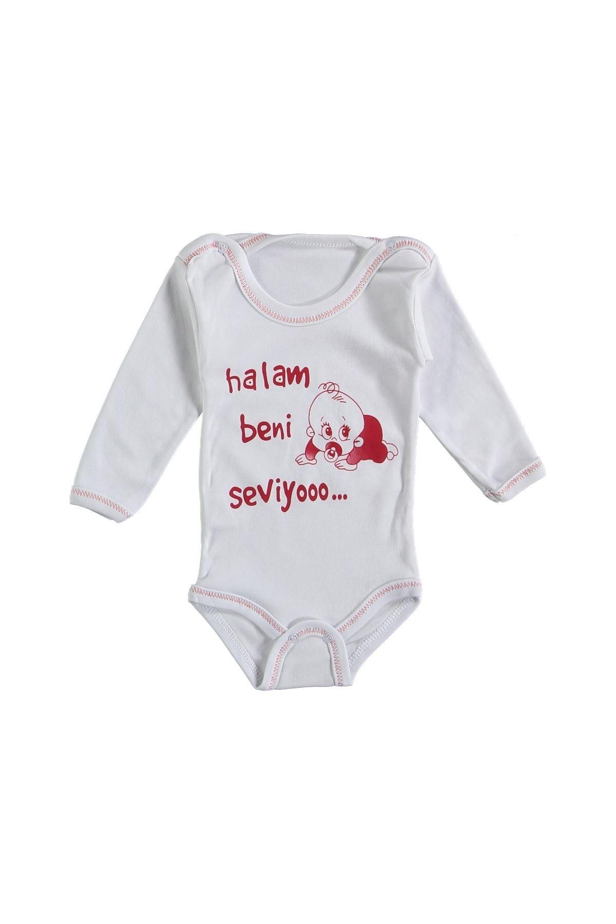 Halam Beni Seviyoo Bebek Zıbını Uzun Kollu