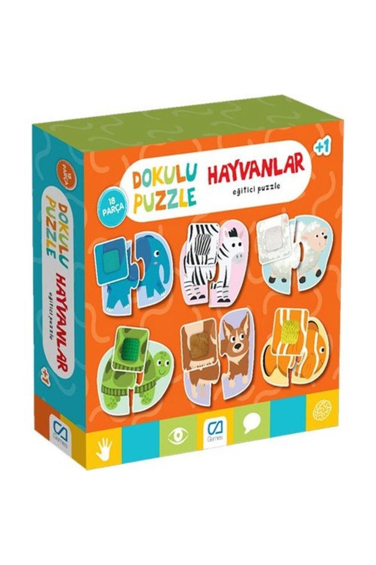 Games Hayvanlar Dokulu Eğitici Puzzle 18 Parça 5126