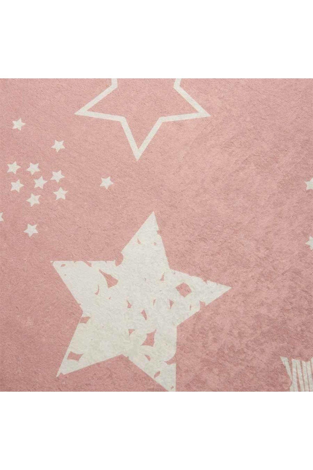 Stars Pembe Çocuk Halısı