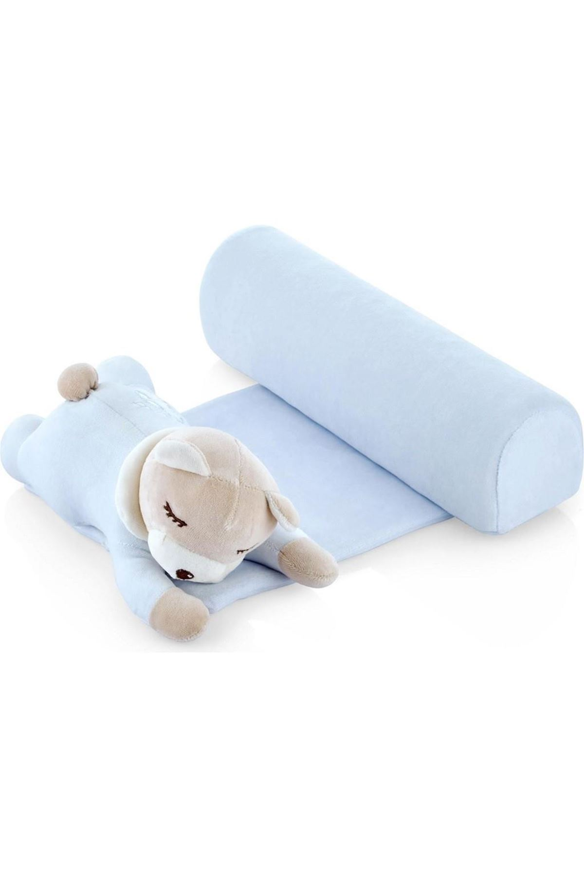 BabyJem Güvenli Uyku Yastığı 674 Mavi Ayıcık