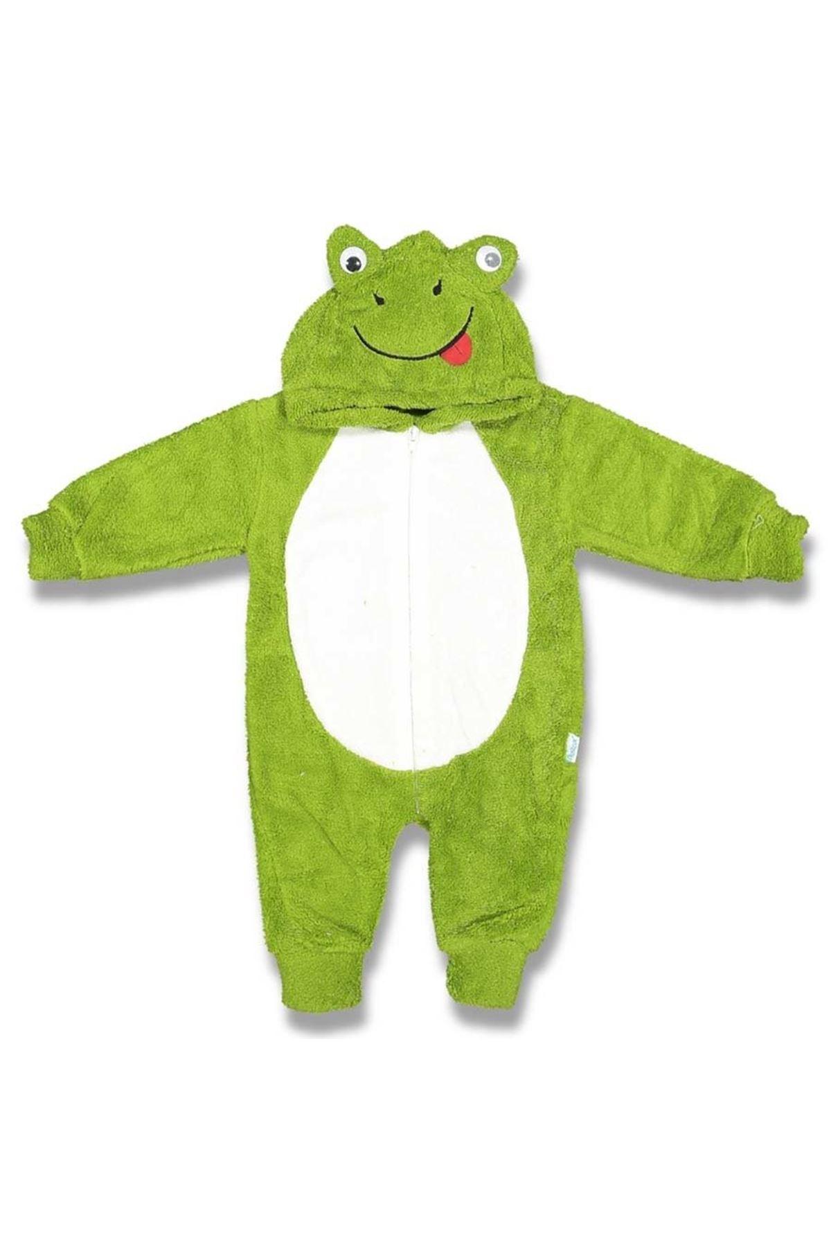 Polar Yeşil Kapşonlu Kurbağa Bebek Tulum